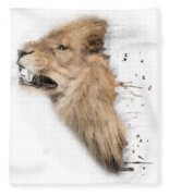 Roaring Lion No 04 Fleece Blanket
