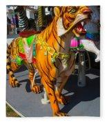 Roaring Tiger Ride Fleece Blanket