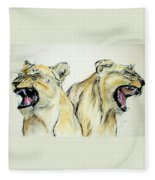 Roaring Times Fleece Blanket