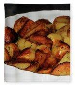 Roasted Potatoes Fleece Blanket
