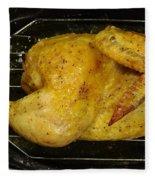 Roasting Half Chicken, 4 Of 4 Fleece Blanket
