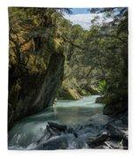 Rob Roy Stream New Zealand Fleece Blanket