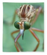 Robber Fly Fleece Blanket