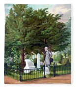 Robert E. Lee Visits Stonewall Jackson's Grave Fleece Blanket