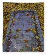 Robert Frosts Grave Fleece Blanket