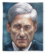 Robert Mueller Portrait , Head Of The Special Counsel Investigation Fleece Blanket