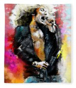 Robert Plant 03 Fleece Blanket
