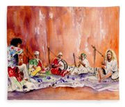 Robert Plant And Jimmy Page In Morocco Fleece Blanket