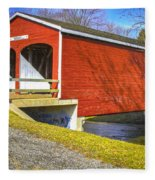 Roberts Covered Bridge Fleece Blanket