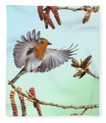 Robin And Poplar Fleece Blanket