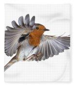 Robin Flying Fleece Blanket