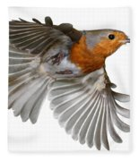 Robin In Flight Fleece Blanket