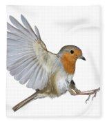 Robin Landing Fleece Blanket