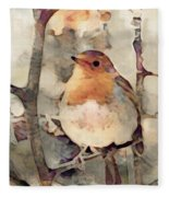 Robin Song Of Spring Fleece Blanket