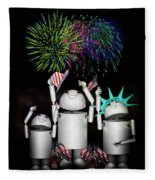Robo-x9 And Family Celebrate Freedom Fleece Blanket