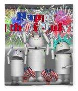 Robo-x9 Celebrates Freedom Fleece Blanket