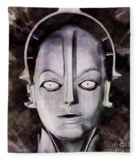 Robot From Metropolis Fleece Blanket