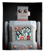 Robot R-1 Square Fleece Blanket