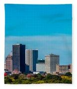Rochester Ny Skyline Fleece Blanket