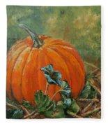 Rochester Pumpkin Fleece Blanket