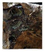 Rock Abstract With A Web Fleece Blanket