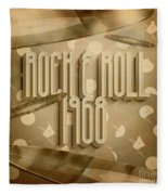 Rock And Roll 1968 Fleece Blanket