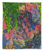 Rock And Shrub Abstract Bright Fleece Blanket