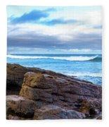 Rock And Wave Fleece Blanket