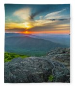 Rock Climbing At Ravens Roost Fleece Blanket