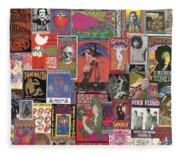 Rock Concert Posters Collage 1 Fleece Blanket