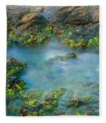 Rock Formations In The Sea, Bird Rock Fleece Blanket