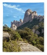 Rock Formations Montserrat Spain II Fleece Blanket