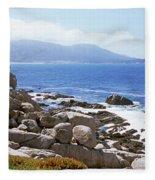 Rock Formations On The Coast, 17-mile Fleece Blanket