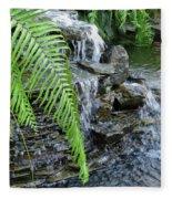 Rock Fountain II Fleece Blanket