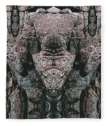 Rock Gods Elephant Stonemen Of Ogunquit Fleece Blanket