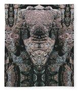 Rock Gods Elephant Stonemen Of Ogunquit Fleece Blanket