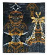 Rock Gods Lichen Lady And Lords Fleece Blanket