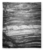 Rock Lines B W Fleece Blanket