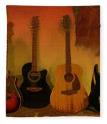 Rock N Roll Guitars Fleece Blanket