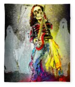 Rock N Roll The Bones Fleece Blanket