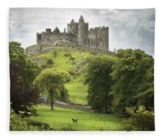 Rock Of Cashel Cashel County Tipperary Fleece Blanket