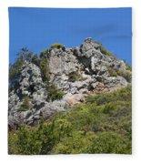 Rock On Tamalpais Fleece Blanket