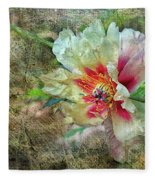 Rock Peony Fleece Blanket