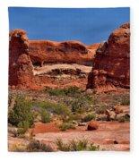 Rock Pinnacles 3 Fleece Blanket