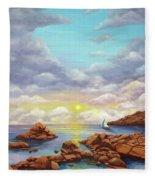 Rock Pools, Seascape Fleece Blanket