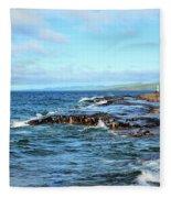 Rock Shore Fleece Blanket