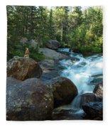 Rock Stack Falls Fleece Blanket
