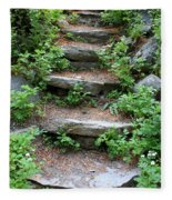 Rock Stairs Fleece Blanket