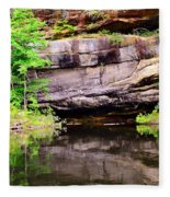 Rock Wall Reflections Fleece Blanket