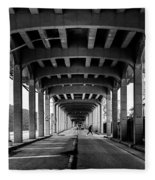 Rockaway Freeway, Queens New York Fleece Blanket